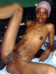 The Skinny African whore, this mature..