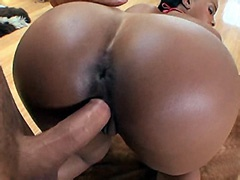 Big boobs ebony whore big cock fucked on floor