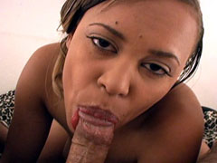 A sexy brown skinned babe Mone Divine sucking cock like a total pro in this amateur black porn..