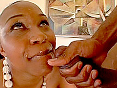 This black mom slut loves having her tight asshole stretched in some rough anal sex video! Busty..