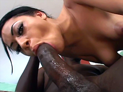 From the moment that I saw this beautiful ebony girl, I want to shove my huge cock in her mouth...