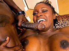 Ebony babe Coco Pink sucks and fucks a monster cock, she has a tight ass and tasty boobs. This..