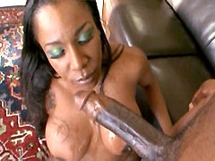 Desired black mom with big tits gets her pierced pussy fucked