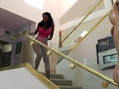 Black housewife and dirty cheater Nyomi Banxxx is ready to bang! She looks a treat in her..